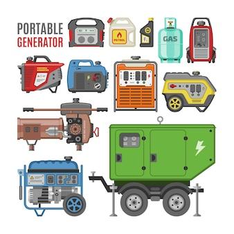 ポータブルディーゼル燃料エネルギー産業用発電機ベクトル電力