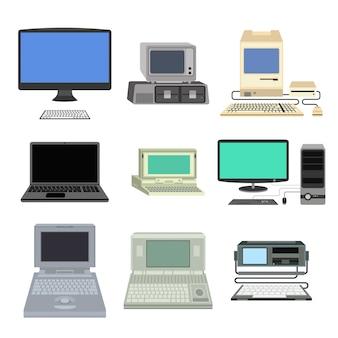 コンピューターのベクトル図です。