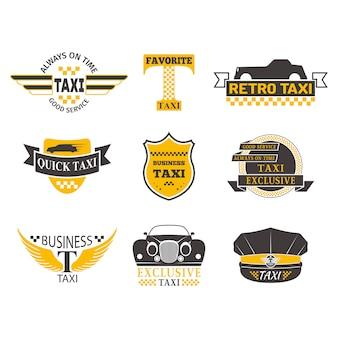 タクシーバッジベクトルイラスト。