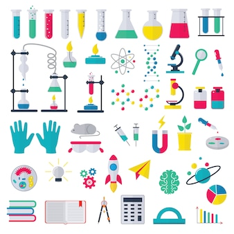 Химия вектор химическая наука или фармацевтика исследования в школьной лаборатории для технологий