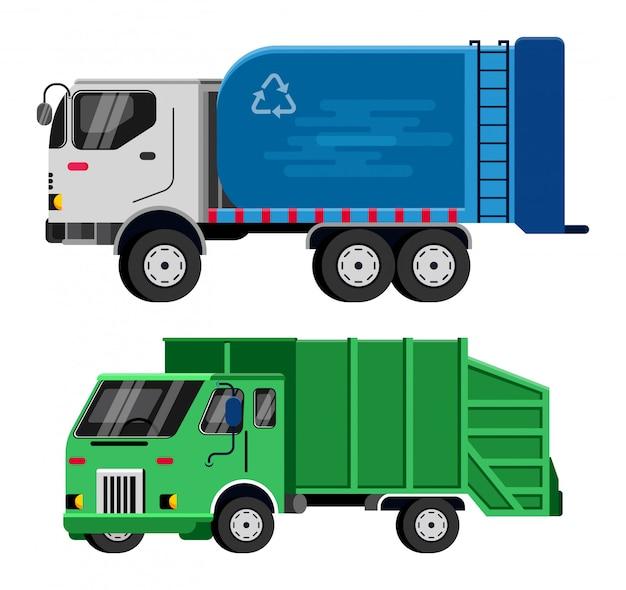 Мусоровоз вектор мусоровоз