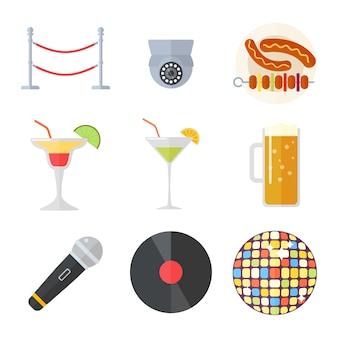 Ночной клуб векторные иллюстрации.