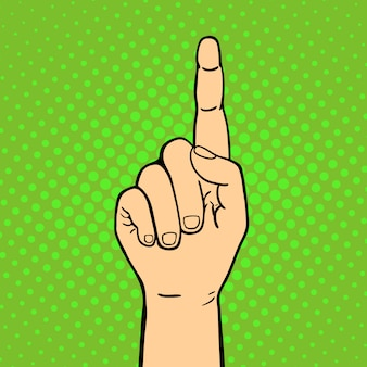 Рука показывая большие пальцы руки вверх глухонемой жест человеческой руки держит связь и дизайн стиля касания кулака касается стиля поп-арта красочной иллюстрации.