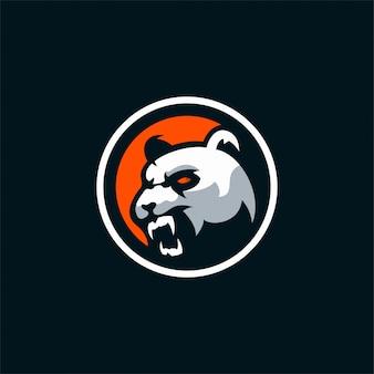 怒っているパンダのロゴ
