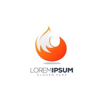 Фокс дизайн логотипа векторная иллюстрация готова к использованию