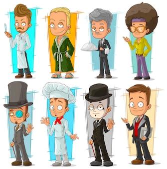 漫画のクールな面白いさまざまなキャラクター