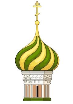 Купол церкви. вектор без градиента