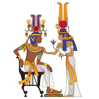 エジプトの象形文字とシンボル古代文化
