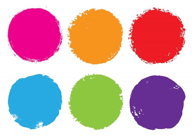 カラーグランジラウンドフレーム