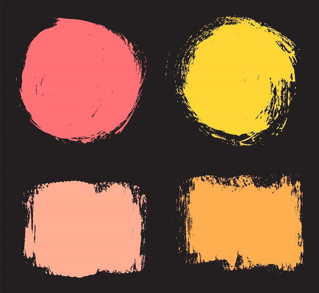 色グランジ図形セット