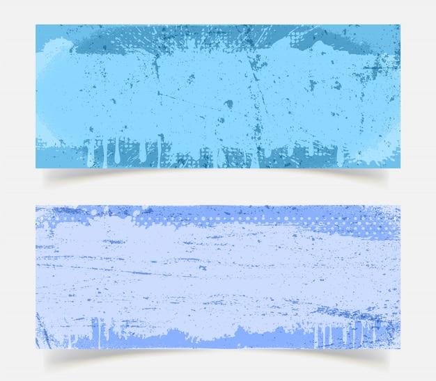 抽象的なブルーグランジ背景セット