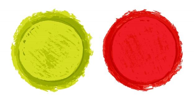 カラーグランジラウンドシェイプ
