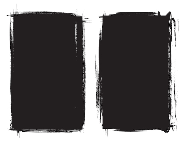 黒グランジフレーム