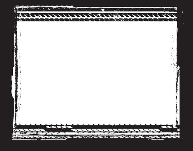 Рамка для шин в стиле гранж