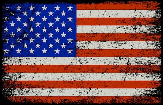 Гранж американский флаг