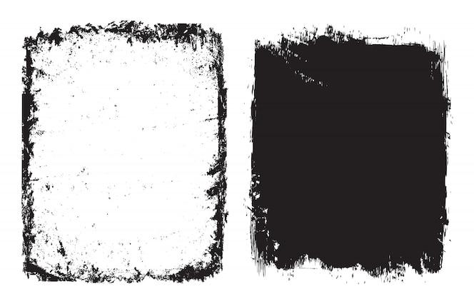 抽象的なグランジフレームまたは背景セット