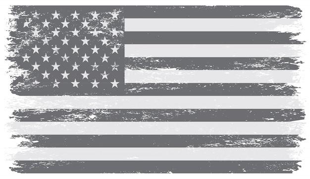 古い汚れた米国旗