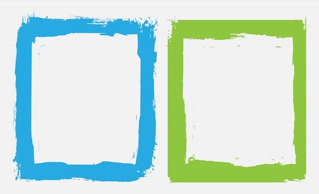 色グランジフレーム