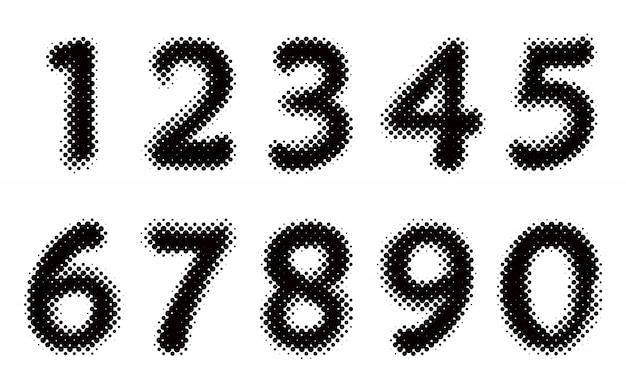 ハーフトーン番号セット
