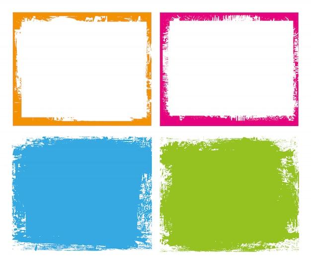 Цветные гранж-рамки