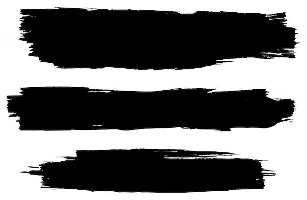 黒グランジブラシストローク