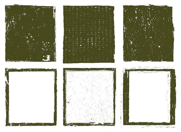 Гранж текстурированные рамки