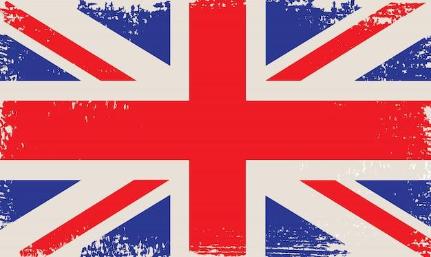 Старый старинный флаг великобритании