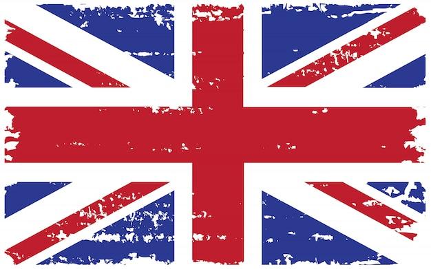 Старый гранж флаг великобритании