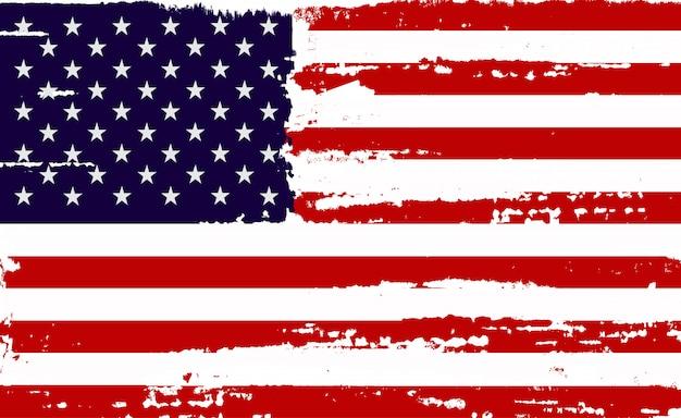 苦痛のアメリカの国旗