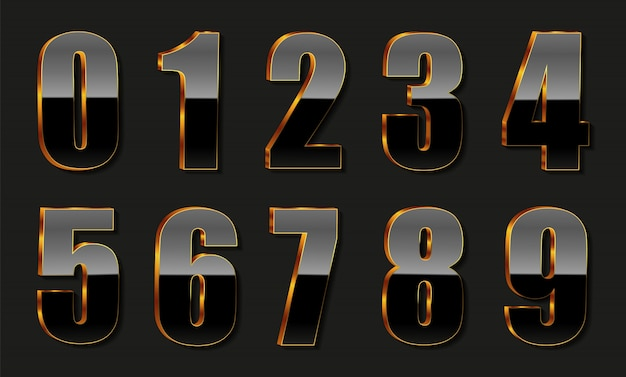 Роскошные золотые черные номера