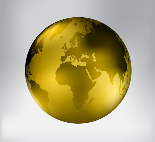 黄金の惑星地球のアイコン