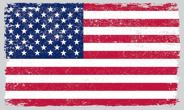 Гранж флаг сша