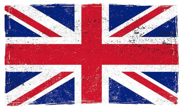 Флаг великобритании гранж