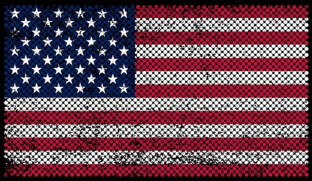 Флаг сша в шероховатом стиле
