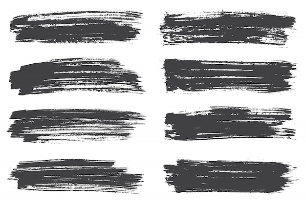 黒のブラシストローク