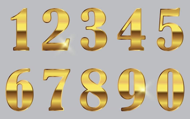 Золотые числа установлены