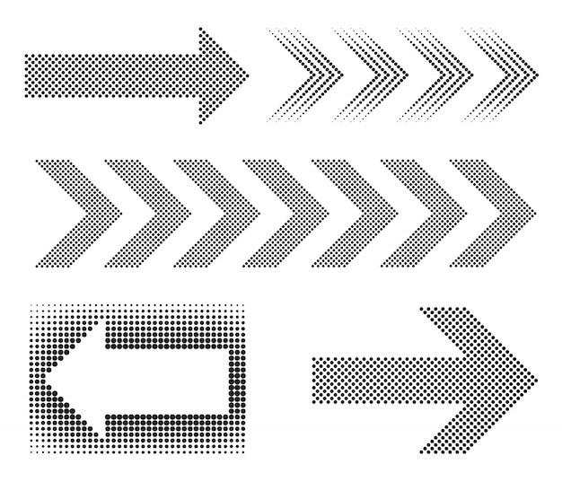 黒い点線の矢印