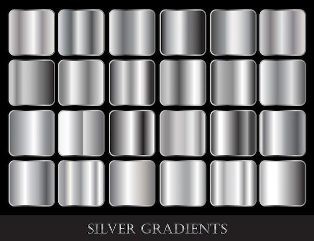 銀グラデーションのセット