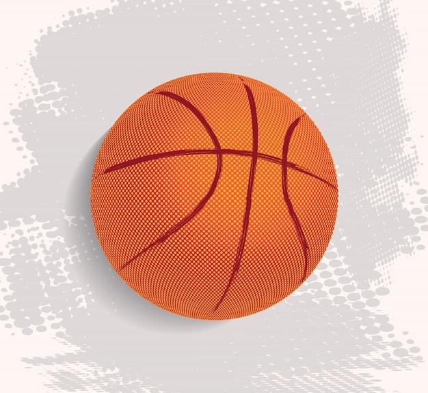 Баскетбольный мяч в безобразном стиле
