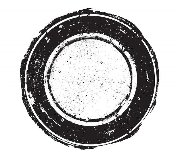 Гранж круглая печать