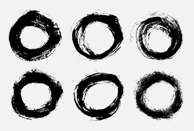 Набор гранж-кругов