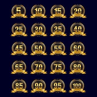 Золотые значки юбилейные
