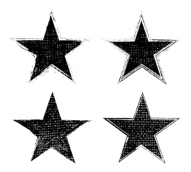 Гранж текстурированные звезды