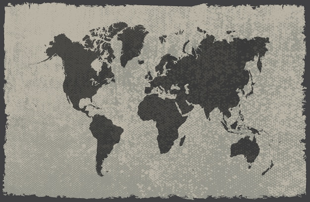 Карта мира гранж