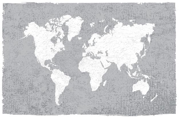 ヴィンテージの世界地図