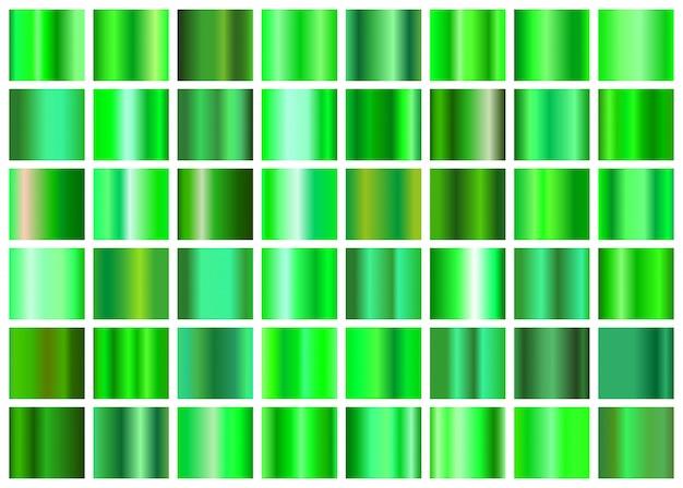 緑のグラデーションのセット