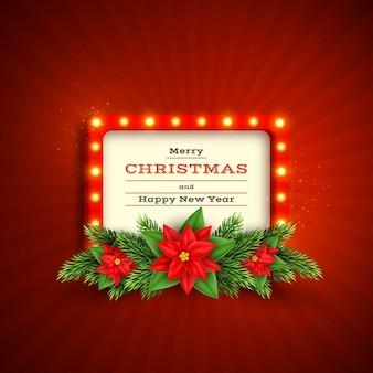 Рождественский праздник фон с ретро рамкой