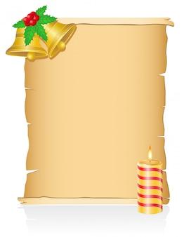 Старинные рождественские пустой свиток векторная иллюстрация