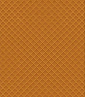 ワッフルのシームレスパターンベクトル図