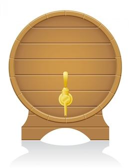 Деревянная бочка векторная иллюстрация